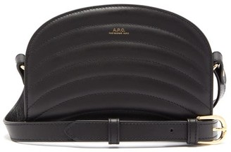 A.P.C. Half-moon Mini Quilted Leather Cross-body Bag - Womens - Black