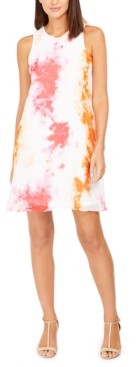 Calvin Klein Tie-Dyed Trapeze Dress