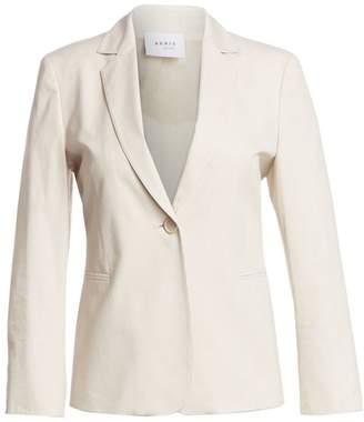 Akris Punto Bracelet Sleeve Cotton Single-Breasted Blazer