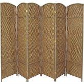Oriental Furniture 7-Feet Tall Diamond Weave Room Divider