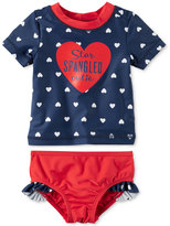 Carter's 2-Pc. Star Spangled Cutie Rashguard Swimsuit, Baby Girls (0-24 months)