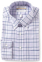 Roundtree & Yorke Gold Label Non-Iron Regular Full-Fit Button-Down Collar Plaid Dress Shirt