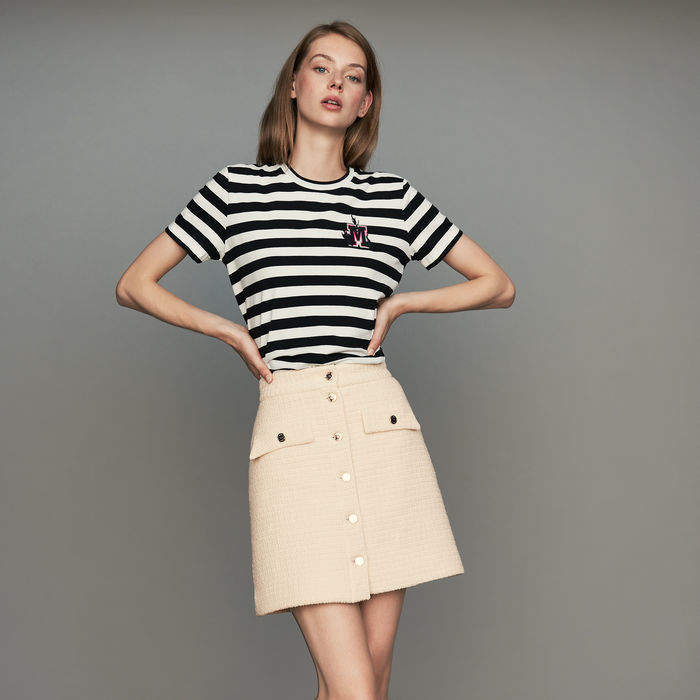 Maje Tweed trapeze skirt