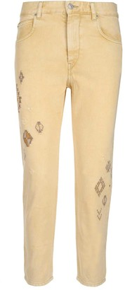 Etoile Isabel Marant Embroidered Jeans