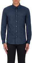 Theory Men's Zack PS Brushed Cotton Flannel Shirt-NAVY