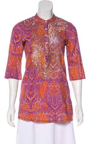 Figue Sequined Tunic Top
