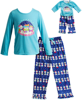 Dollie & Me Turquoise 'Snow' Sleep Top Set & Doll Outfit - Girls