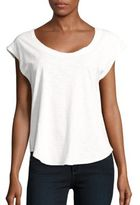 Chaser Cap Sleeve Cutout Top