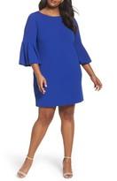 Eliza J Plus Size Women's Bell Sleeve Shift Dress