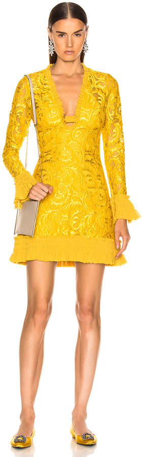 Alexis Nuray Dress in Gold Lace | FWRD