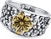 Unwritten Daughter Flower Ring in Sterling Silver and Gold-Flashed Sterling Silver