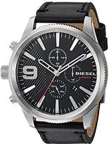 Diesel Men's DZ4444 Rasp Chrono Black Letaher Watch