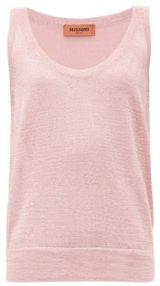 Missoni Metallic-knit Tank Top - Womens - Pink
