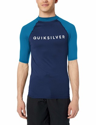 Quiksilver Men's Always There Short Sleeve Rashguard UPF 50+ Sun Protection