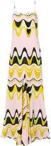 Emilio Pucci waves print maxi dress - women - Silk - 44