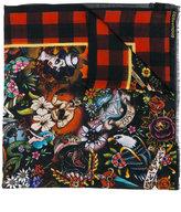 DSQUARED2 Tattoo Foulard scarf - men - Silk/Wool - One Size