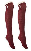 Charlotte Russe Crochet-Trim Over-The-Knee Socks