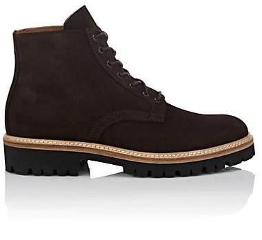 Barneys New York Men's Suede Chelsea Boots - Dk. brown