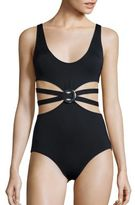 Proenza Schouler Falling Flowers One-Piece Maillot