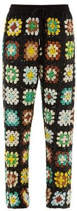 Ashish Elasticated-waist Sequinned Trousers - Green Multi