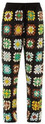 Ashish Elasticated Waist Sequinned Trousers - Womens - Green Multi