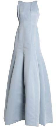 Halston Fluted Duchesse-Satin Gown