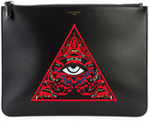 Givenchy embroidered clutch - men - Calf Leather/Leather - One Size