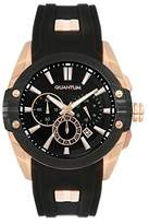 Quantum Hunter Men's Quartz Watch with Chronograph Quartz Silicone hng378.851