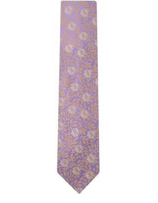DUCHAMP LONDON Celosia Floral Tie Purple