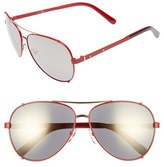 Bobbi Brown 'The Truman' 60mm Aviator Sunglasses
