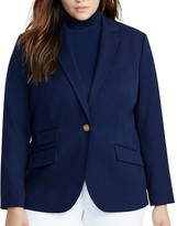 Lauren Ralph Lauren Plus Stretch Twill Blazer