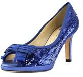 Ballin Pailettes Bleu Open-toe Synthetic Heels.