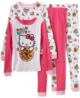 Hello Kitty Girls 4-10 4-pc. Pizza Pajama Set