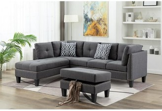 Alcott Hill Spriggs Modular Sectional with Ottoman Orientation: Left Hand Facing