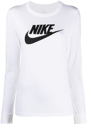 Nike Swoosh logo long-sleeved T-shirt