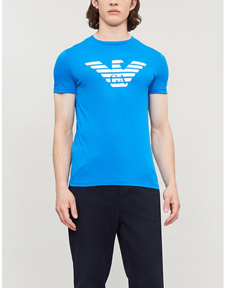 Emporio Armani Large Eagle logo cotton T-shirt