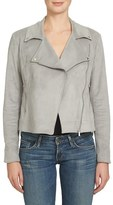 1 STATE Women's 1.state Faux Suede Moto Jacket