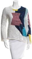 Aviu Alpaca-Blend Sequined Sweater