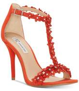 INC International Concepts Women's Rosiee T-Strap Embellished Evening Sandals, Created for Macy's