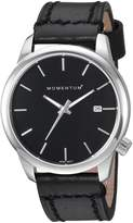 Momentum Women's 'Logic 36' Quartz Stainless Steel and Leather Fashion Watch, Color (Model: 1M-SN11B2B)
