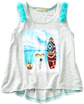 Little Mass Aji Dog Graphic Print Tank (Toddler Girls)