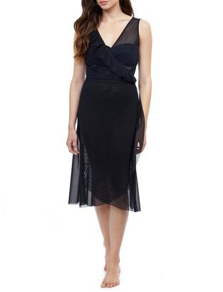 Gottex Viva Sleeveless V-Neck Sheer Coverup Dress