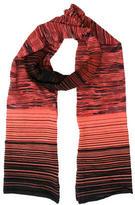 M Missoni Striped Wool-Blend Scarf w/ Tags
