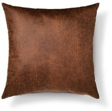 Threshold Throw Pillow Faux Leather Oversized Brown