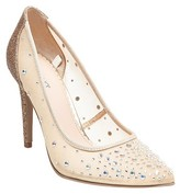 Tevolio Women's Eden Jeweled Illusion Pumps