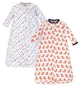 Hudson Baby Baby Girl Long-Sleeve Sleep Sack, 2-Pack