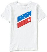 Hurley Big Boys 8-20 Americana Icon Slash Flag Fill Short-Sleeve Tee