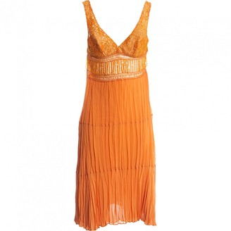 La Perla Orange Silk Dresses