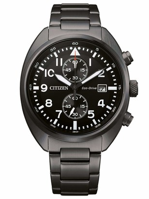 Citizen Men's Chronograph Eco-Drive Watch with Stainless Steel Strap CA7047-86E