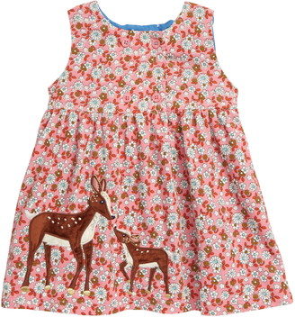 Boden Deer Applique Corduroy Dress